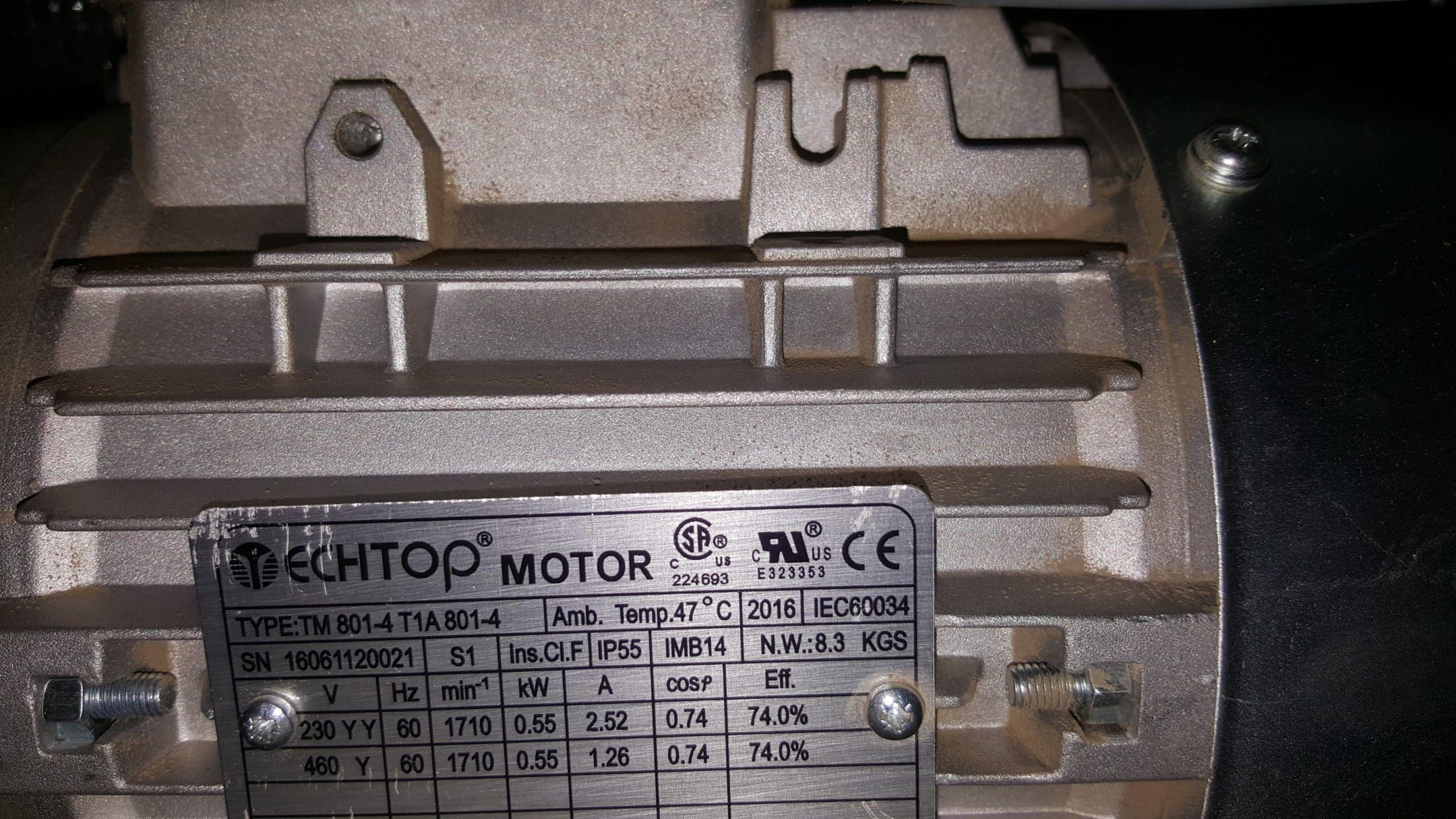Electric Motor ID Tag